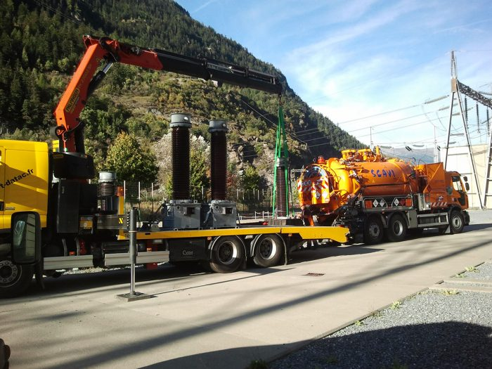 Évacuation transformateur poste EDF