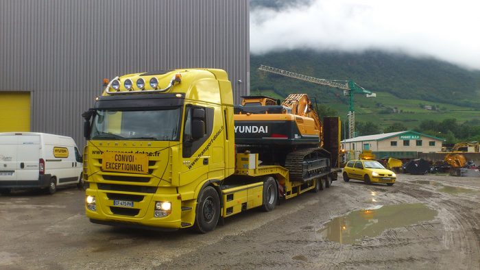 Transport pelle 40 Tonnes